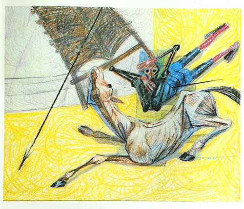 Obras de Portinari inspiradas no livro de Cervantes.