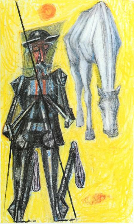 """Desenho de Portinari """"ilustrado"""" pelo poema Sagração, de Drummond"""
