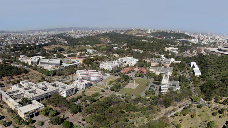 Vista aérea do Campus Pampulha. Foto: Foca Lisboa