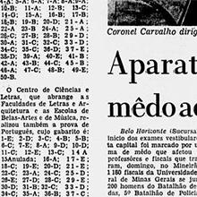 A cobertura dos vestibulares feita pelo Jornal do Brasil atravessou também os 17829 candidatos que estavam concorrendo 3124 vagas na UFMG. Opiniões diversas, batucada e ansiedade pelos gabaritos marcaram o dia de provas no Mineirão.  Miniatura