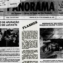"""""""Panorama"""", Um Semanário a Serviço da Região do Alto Paraopeba, publica, """"com júbilo"""", uma relação dos formados lafaietenses de 1978. E a simpática e elegante Janice Bellavinha é a mais nova graduada em Medicina da cidade. Miniatura"""