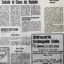 """O professor Celso Pinheiro, reitor da UFMG entre 1978 e 1982, esteve no DOPS para acompanhar a liberação de estudantes presos em manifestação de rua durante a ditadura militar. A notícia, que saiu no """"O Triângulo"""", destaca o questionamento do reitor sobre a repressão sofrida pelos acadêmicos. Miniatura"""