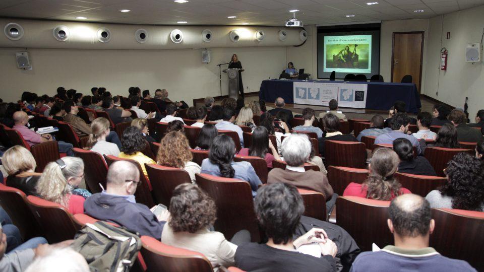 Conferência internacional sul-americana: territorialidades e humanidades, na Faculdade de Ciências Econômicas da UFMG. Foto: Foca Lisboa/ UFMG