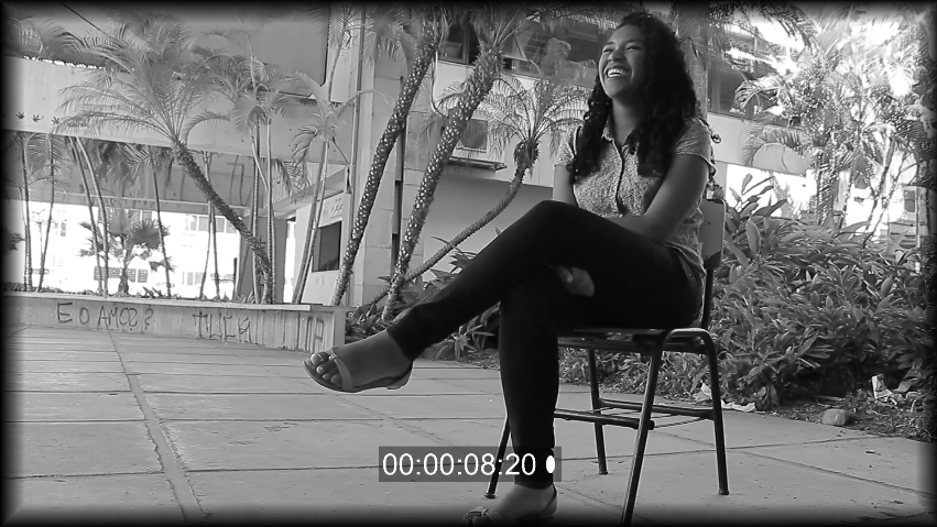 Estudante de Letras da UFMG. Frame retirado do vídeo https://youtu.be/33aWPqoFCJo