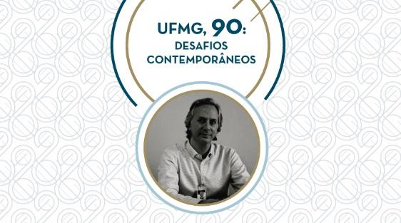 Cartaz Ciclo de Conferências - UFMG, 90 anos.