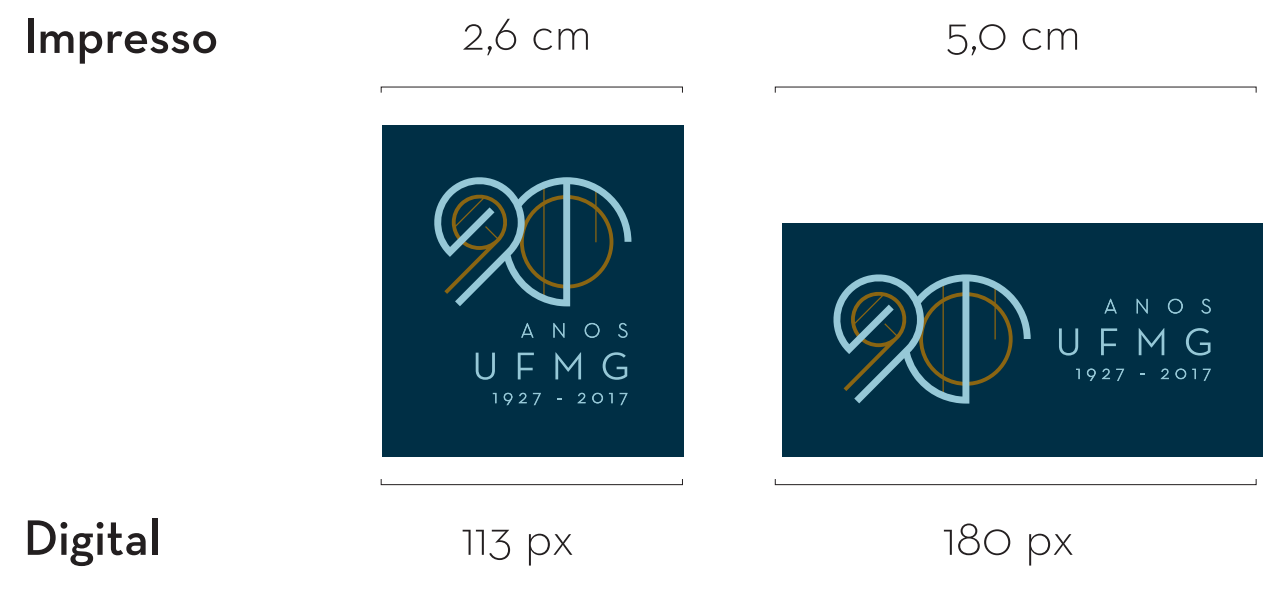 Selo 90 anos UFMG