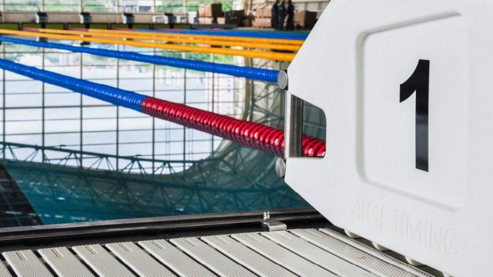 Detalhe da piscina olímpica do Centro de Treinamento Esportivo, que contribuiu para que a UFMG figurasse entre as 50 melhores universidades do mundo em esportes. Foto: Arquivo CTE