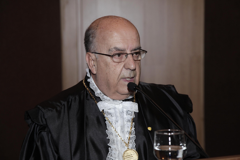 Posse de Cid Velloso como membro titular da Academia Mineira de Medicina, em 2014, na Associação Médica de Minas Gerais. Foto: Foca Lisboa