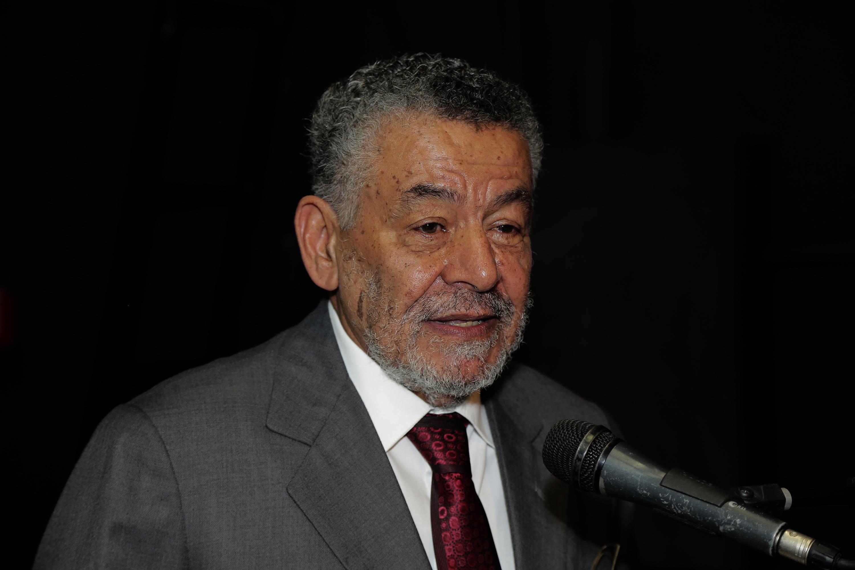 Tomaz Aroldo da Mota Santos na cerimônia em que recebeu o título de Professor Emérito da UFMG. Foto: Foca Lisboa/ UFMG