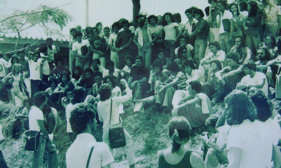 Apesar da repressão, centenas de estudantes conseguiram se reunir em assembleia no campus Saúde.  Foto: Divulgação