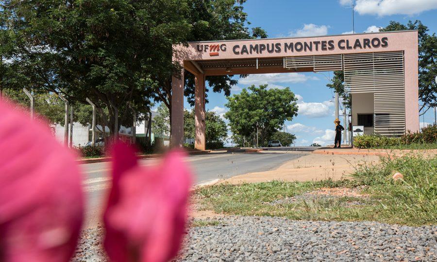Fachada do campus Montes Claros, que vai sediar a SBPC Educação no início de julho. Foto: Lucas Braga/ UFMG
