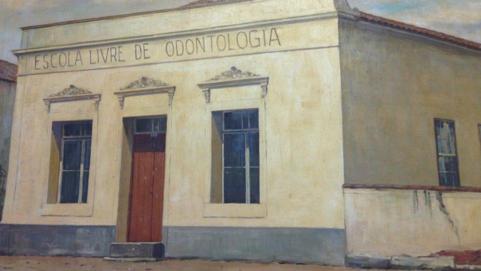 Sede da Faculdade, em 1907. Foto: Acervo Faculdade de Odontologia