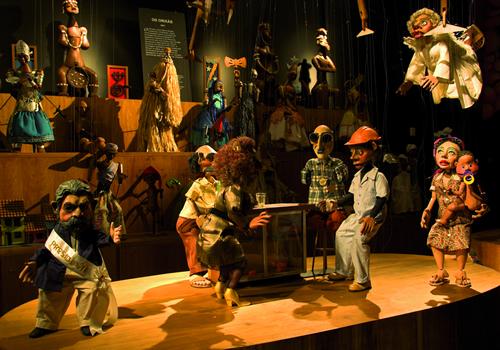 Cenário do Museu Giramundo: grupo vai ministrar oficina de bonecos durante o Festival. Foto: Grupo Giramundo