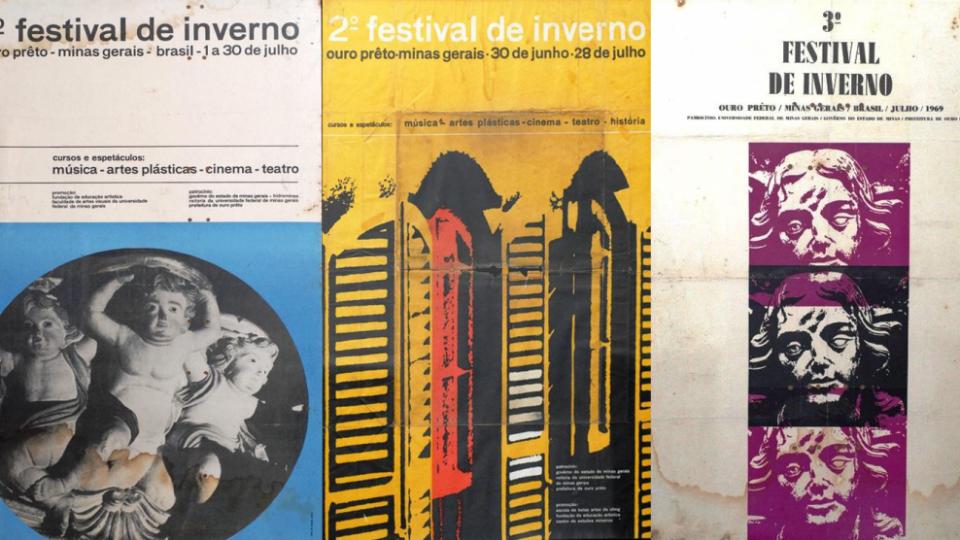 Cartazes Festival de Inverno da UFMG