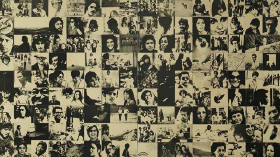 Colagem que figura no álbum Clube da Esquina, de 1972: disco projetou os jovens que se reuniam no bairro de Santa Tereza para compor e tocar. Acervo Clube da Esquina