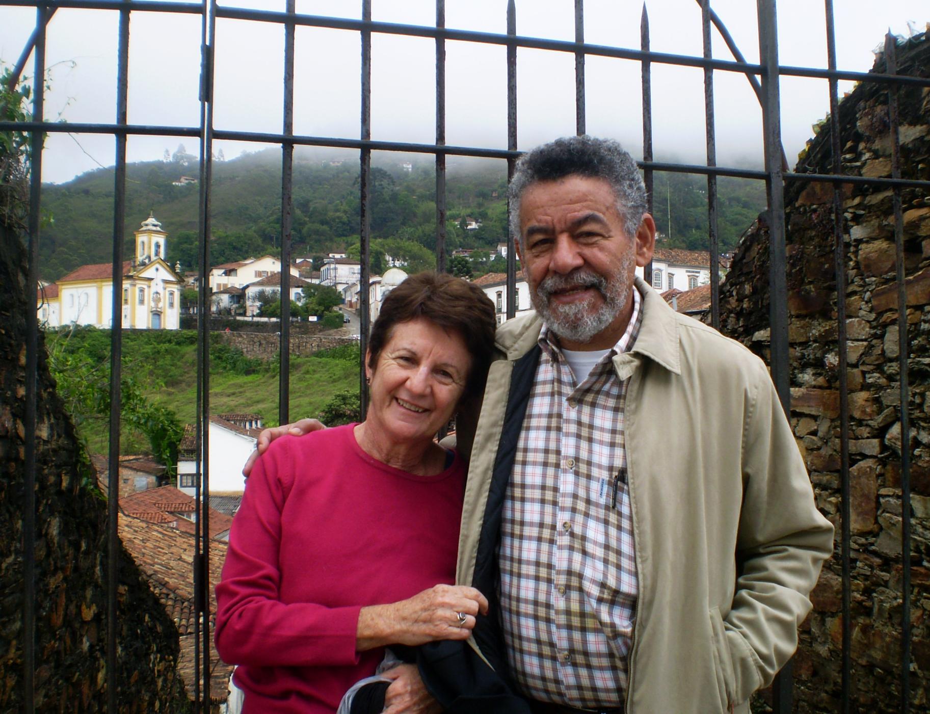 Tomaz e Yara em viagem a Ouro Preto. Arquivo pessoal
