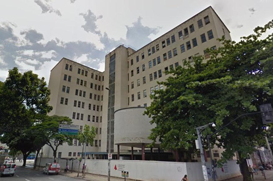 """Hoje, a placa """"futuras instalações do Fórum da Justiça do Trabalho de Belo Horizonte"""" circula o local, em imagem do Google Maps"""