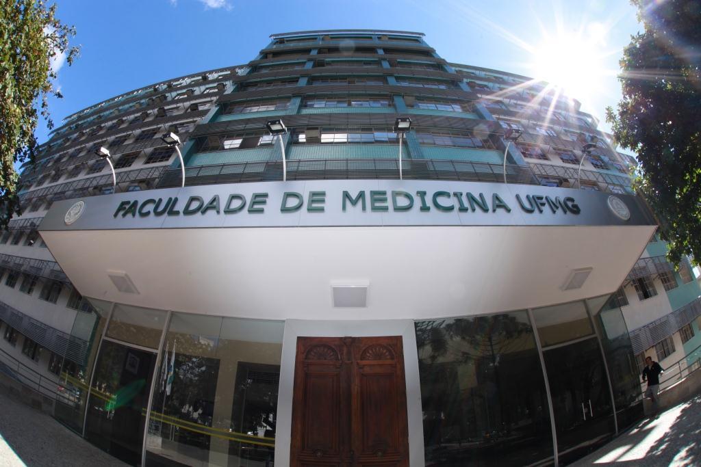 Fachada da Faculdade de Medicina no Campus Saúde, atualmente. Foto: Bruna Carvalho