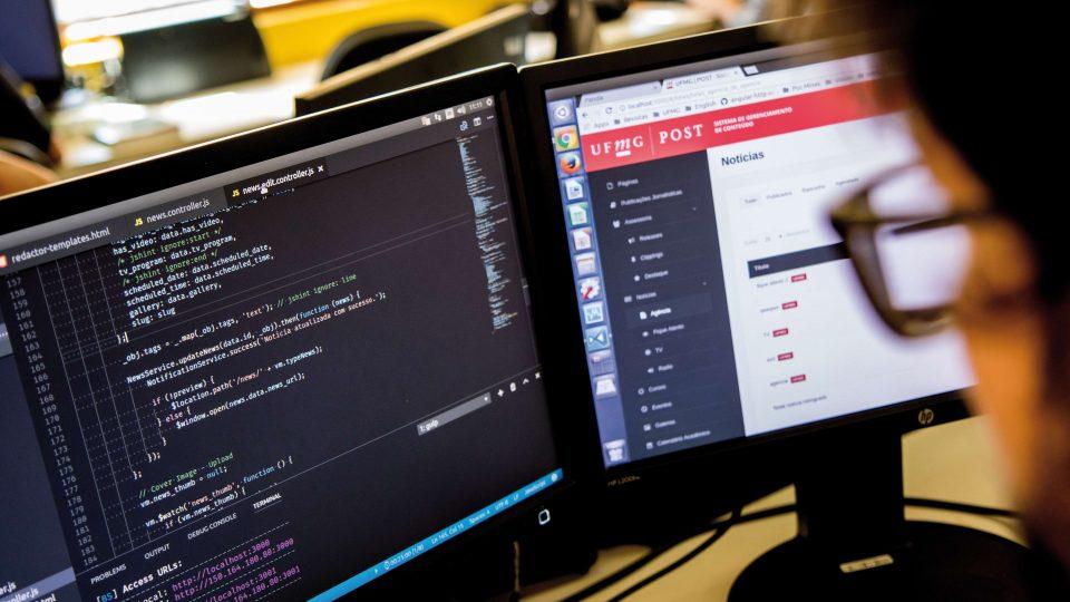 O novo Portal UFMG é resultado de um sistema próprio de gerenciamento de conteúdo, alimentado por sistemas menores. Foto: Lucas Braga/ UFMG