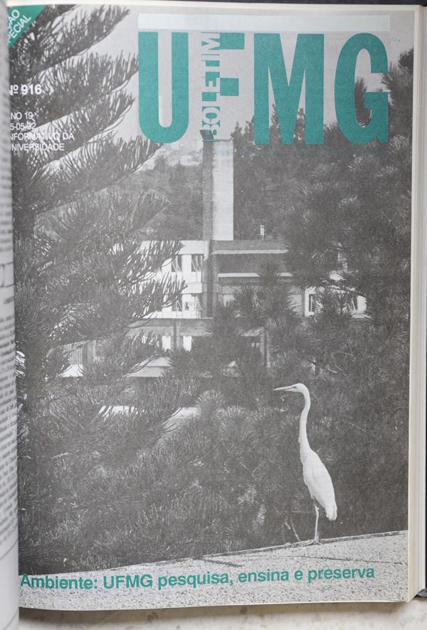 capa do Boletim da UFMG 1992