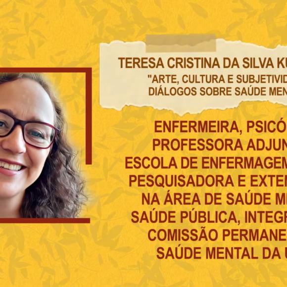 """Aulas Abertas #2: """"Arte, cultura e subjetividade: diálogos sobre saúde mental"""" – Teresa Cristina da Silva Kurimoto"""