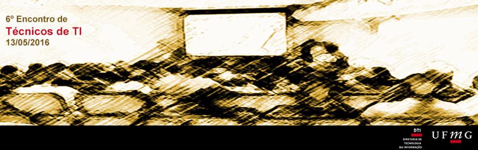 Pintura de uma auditorio simbolizando o 6º encontro de técnicos de TI