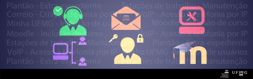 Imagem com icones do catalogo de serviços