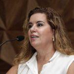 A Reitora Sandra Goulart participa da abertura do 1 semestre de 2019