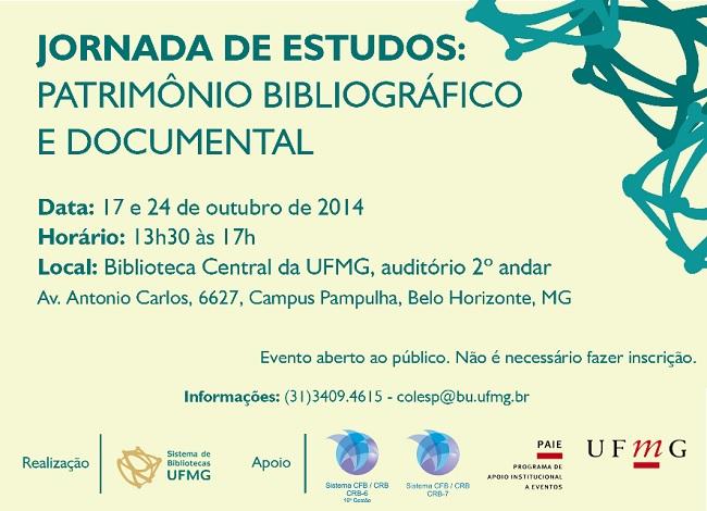 Jornada de Estudos: Patrimônio Bibliográfico e Documental