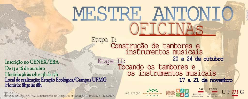 Oficina de Tambores 2014 – Mestre Antônio