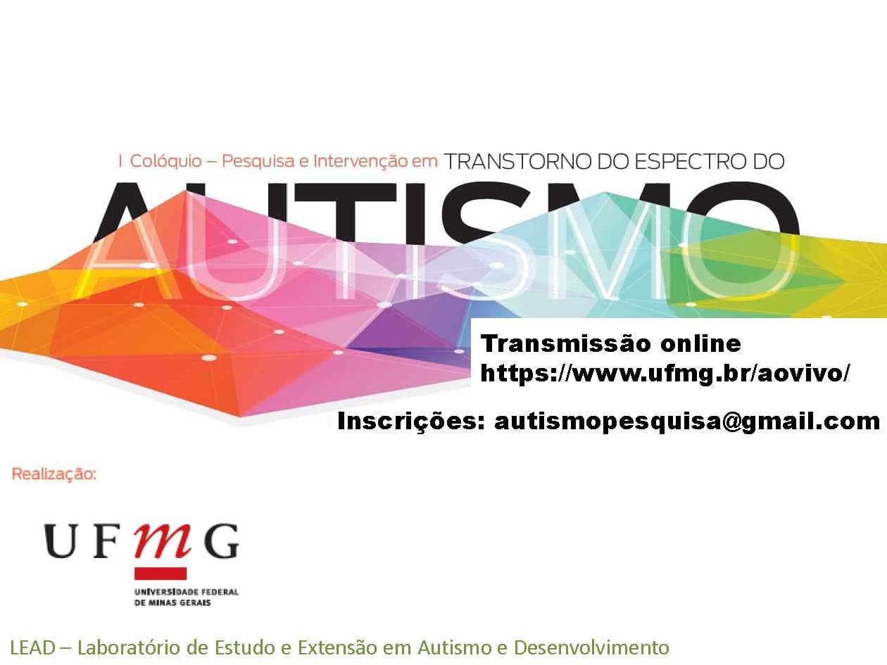 Com transmissão ao vivo, colóquio discute pesquisa e intervenção em transtorno do autismo