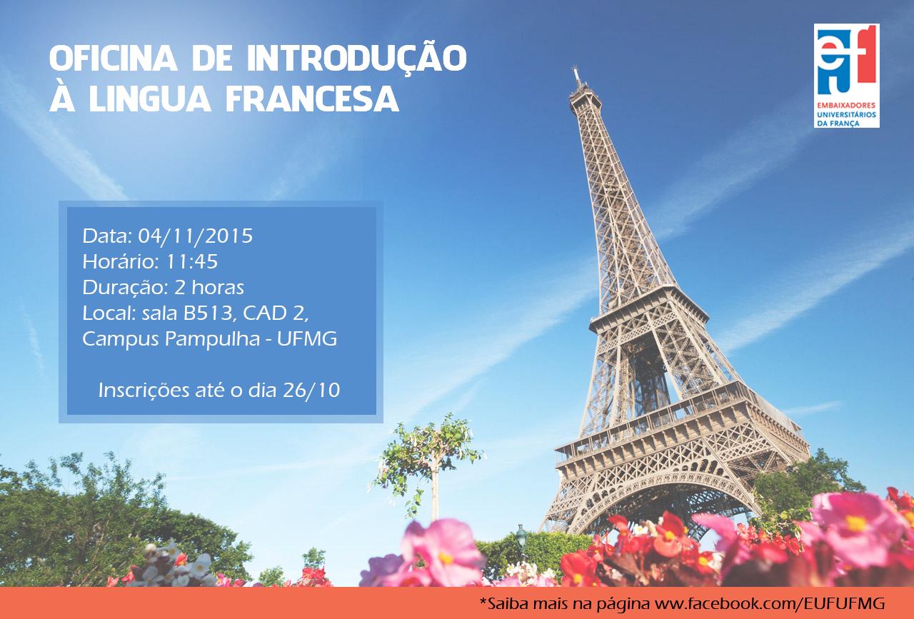 Oficina de introdução à língua francesa será oferecida gratuitamente a estudantes da UFMG