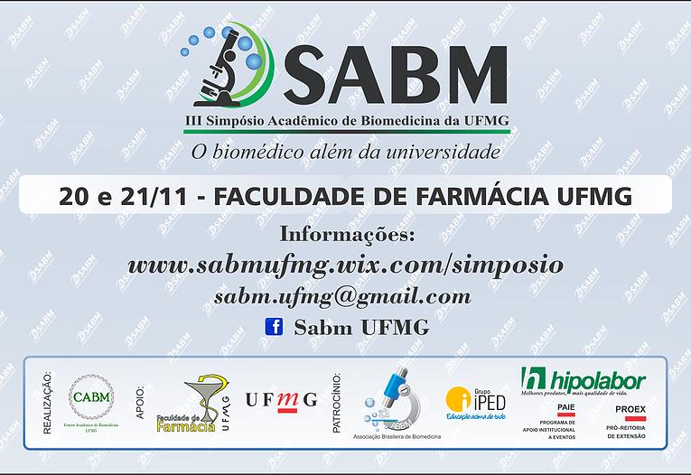 3º Simpósio Acadêmico de Biomedicina da UFMG