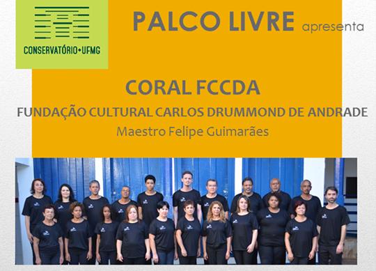 Coral da Fundação Cultural Carlos Drummond de Andrade se apresenta amanhã no Conservatório