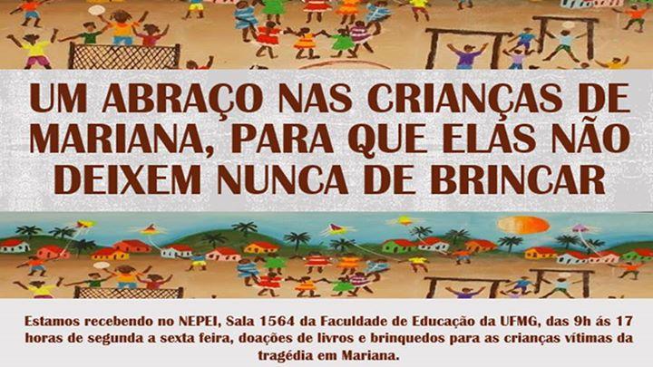 População pode doar brinquedos e livros em bom estado para crianças da região de Mariana