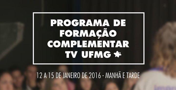 TV UFMG abre programa de formação complementar nas férias acadêmicas